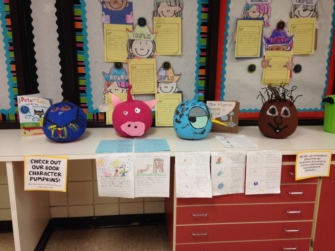 Book Character Pumpkin Fun In First Grade
